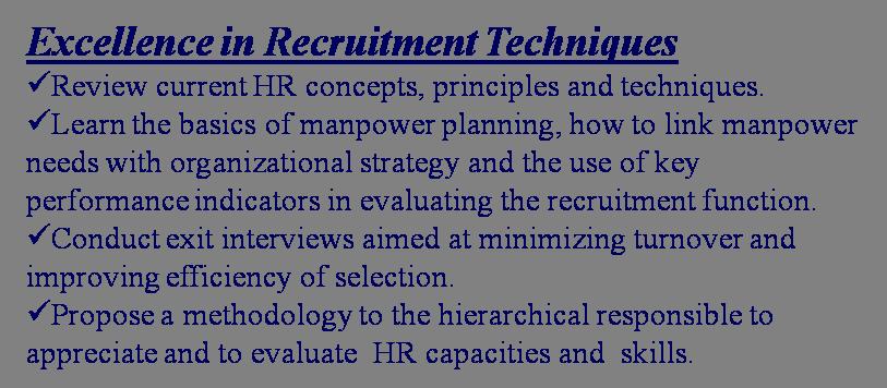 evaluating recruitment function